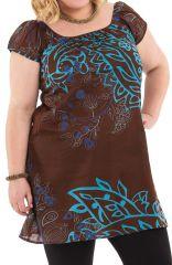 Tunique Chocolat Grande Taille à ceinture amovible Arlette 284465