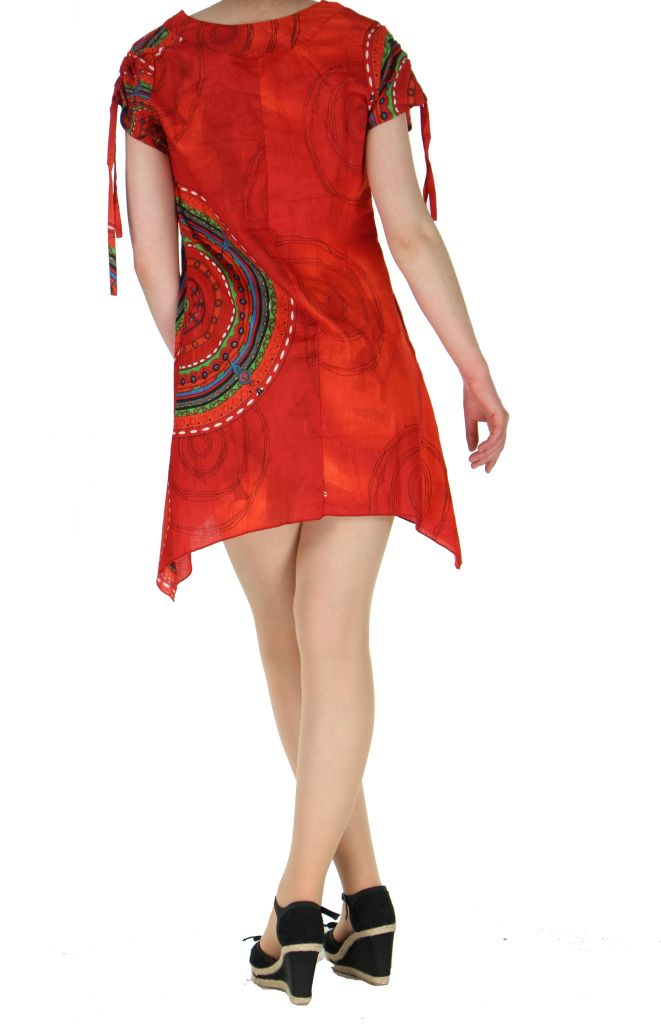 Tunique col rond originale wendy rouge 260774