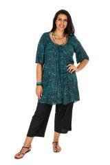 Tunique colorée longue à col rond femme grande taille Lana 309172