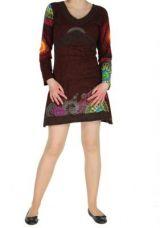 Tunique colorée originale marron Misna 267298