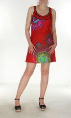 Tunique colorée rouge Maria-Maria 299746