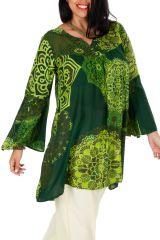 Tunique colorée verte femme grande taille pas cher Stephie