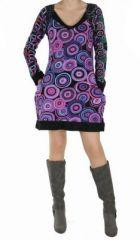 Tunique colorée wandah violette 248789