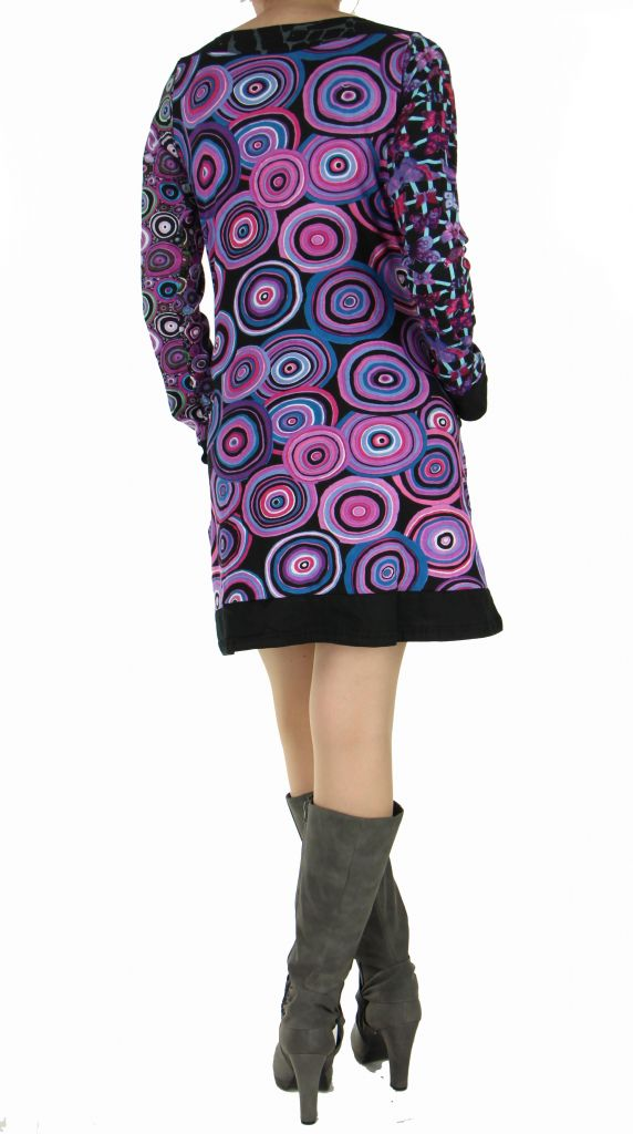 Tunique colorée wandah violette 266878