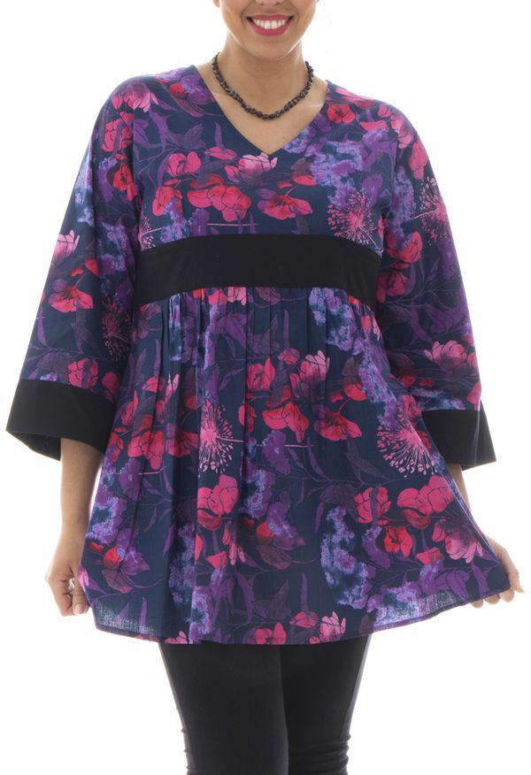tunique coupe empire avec manches kimono Alix 291931