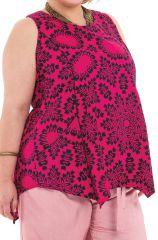 Tunique courte femme en grande taille asymétrique Julia 284738