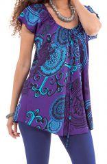 Tunique d'été à manches courtes Originale et Colorée Annie Violette 281247
