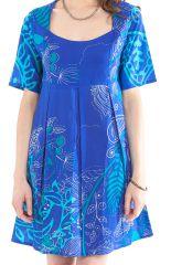 Tunique d'été Bleue pour Femme Originale et Colorée Astrid 281874