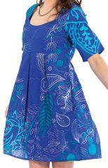 Tunique d'été Bleue pour Femme Originale et Colorée Astrid 281875