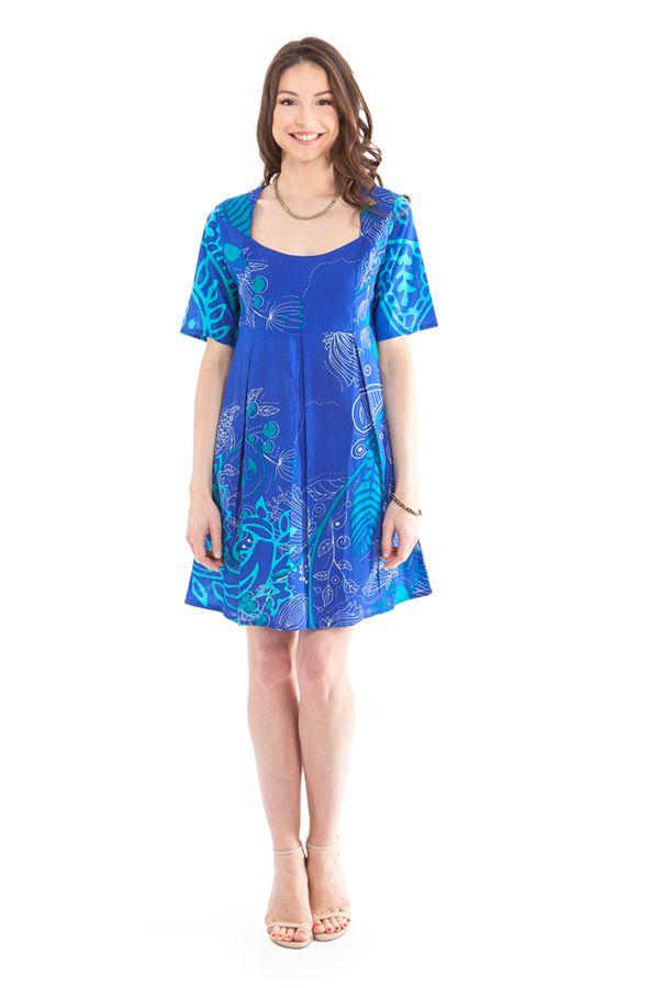 Tunique d'été Bleue pour Femme Originale et Colorée Astrid 281876