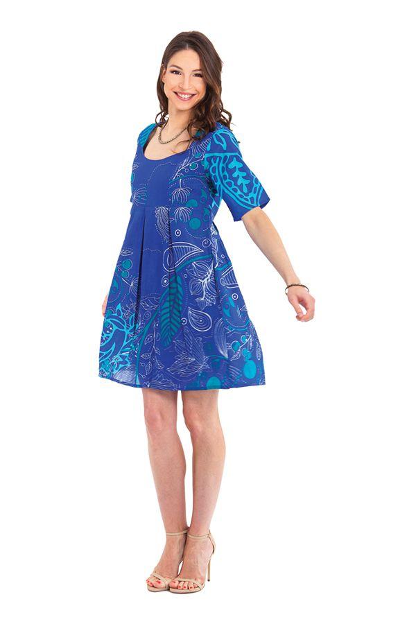 Tunique d'été Bleue pour Femme Originale et Colorée Astrid 281877