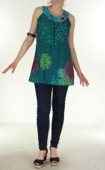 Tunique d'été colorée Turquoise Plastronîme 299683