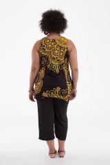 Tunique d'été courte pour femme en grande taille noire Hello 284746