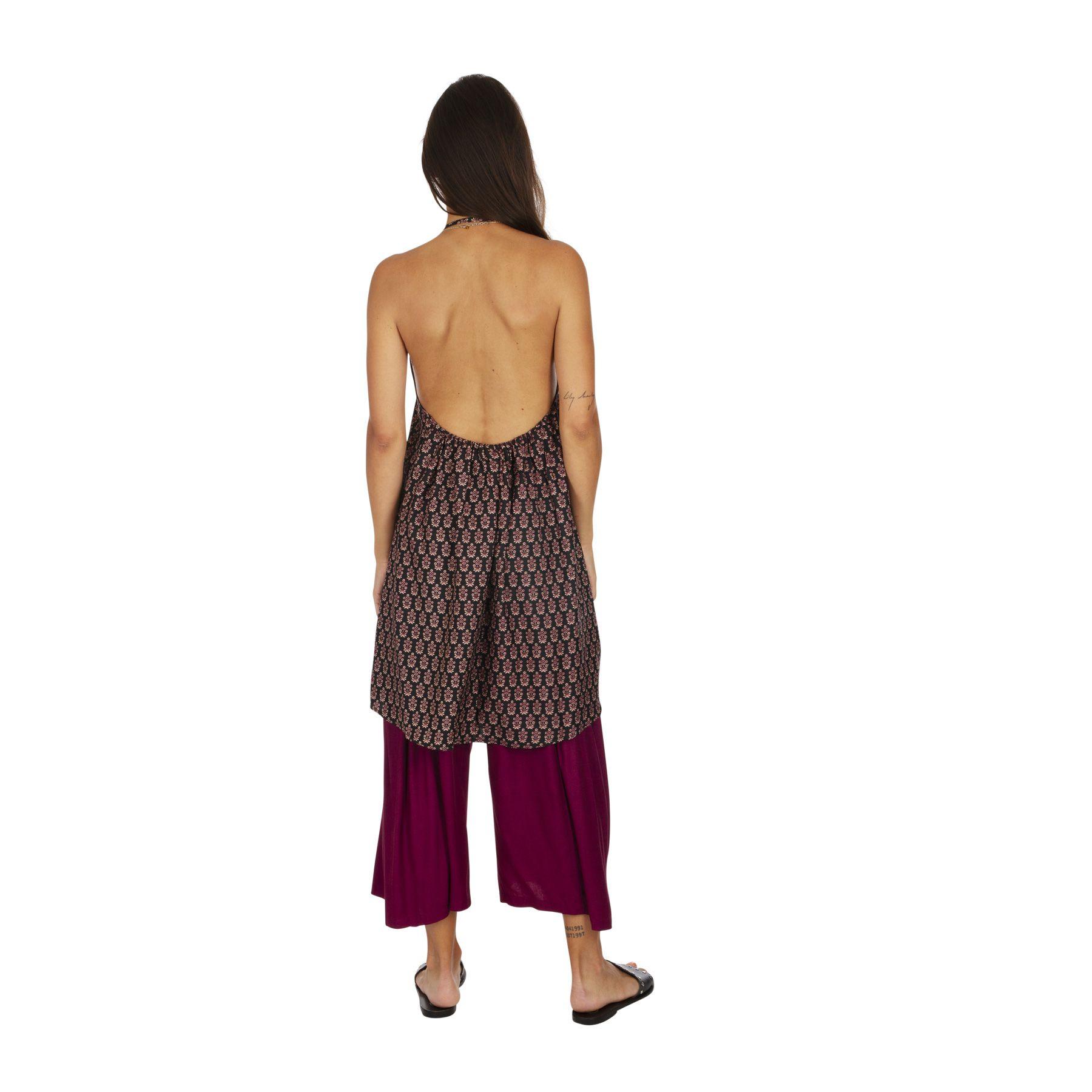 Tunique d\'été femme aux épaules dénudées et fleurie Asma