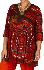 Tunique d'été femme grande taille coupe ample Laora 313123