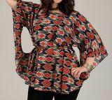 Tunique d'été femme multicolore effet chauve souris Baila 314990