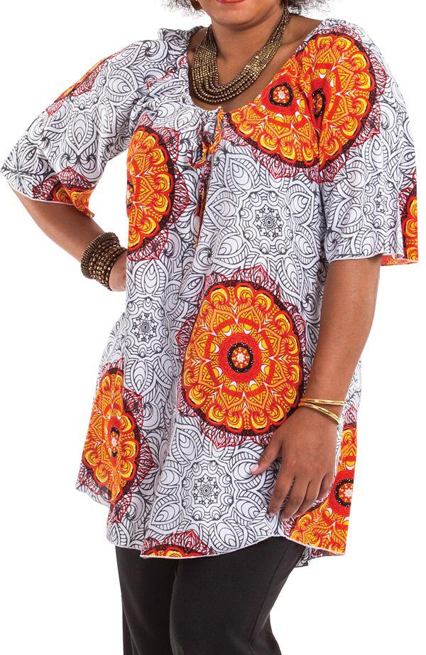 Tunique d'été pour femme en grande taille à mandalas Josita 284651