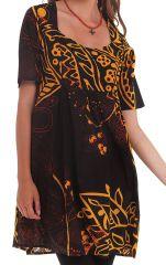 Tunique d'été pour Femme Originale et Colorée Astrid Noire 281871