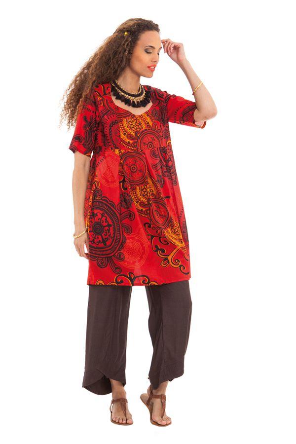 Tunique d'été pour Femme Originale et Colorée Rouge Astrid 281879