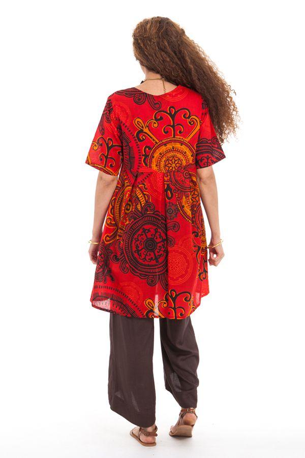 Tunique d'été pour Femme Originale et Colorée Rouge Astrid 281880