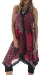 Tunique d'été pour femme sans manches Colorée Marlène Framboise 293370