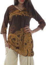 Tunique droite femme Originale col cache-coeur Brazilia Choco 292886