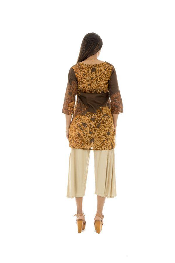 Tunique droite femme Originale col cache-coeur Brazilia Choco 292888