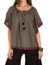 Tunique esprit folk et mode casual en polyester et imprimé Ericka 292035