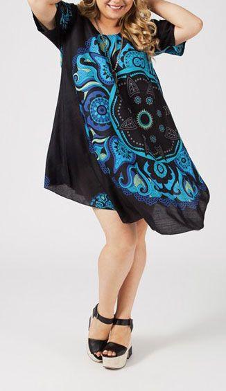 Tunique été colorée femme grande taille Alysson 271255