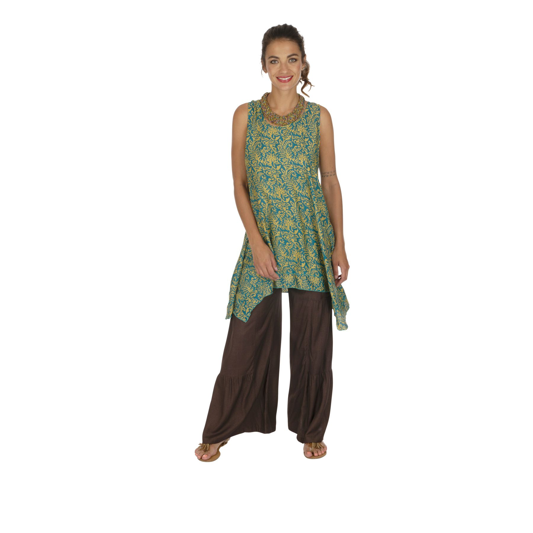 Tunique été femme ample et fluide style bohème Letavy 319874