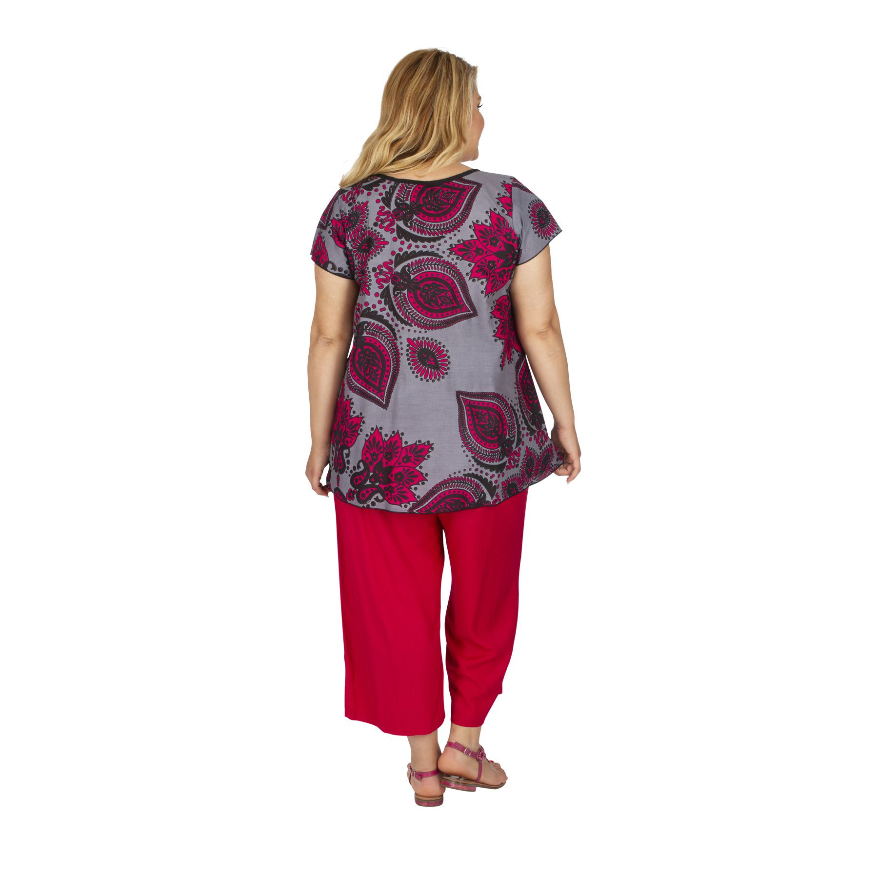 Tunique été femme grande taille ample à nouer Clingen