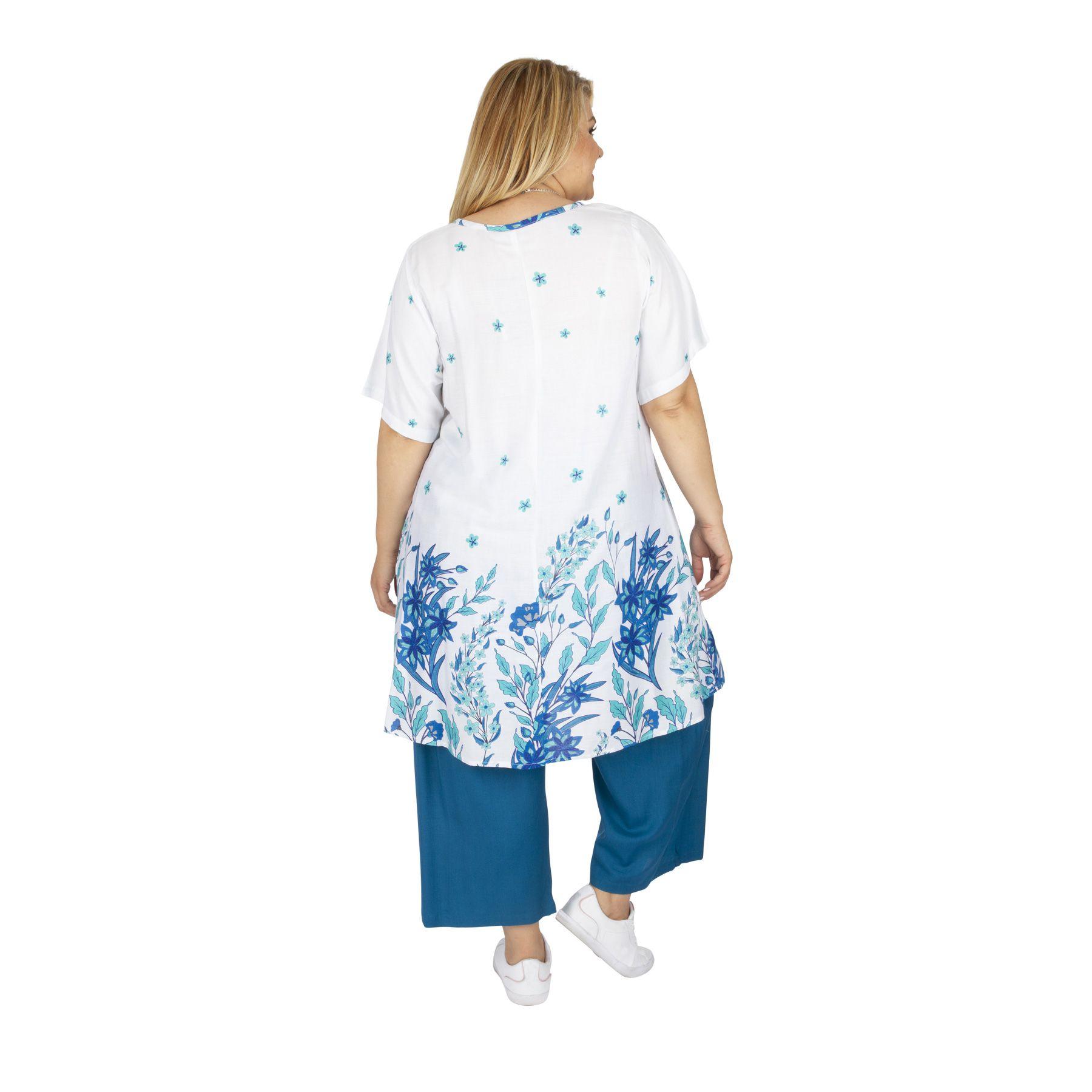Tunique été femme grande taille bohème fleurie Borny