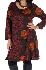 Tunique Ethnique aux couleurs d'automne en Grande taille Lazy 301097
