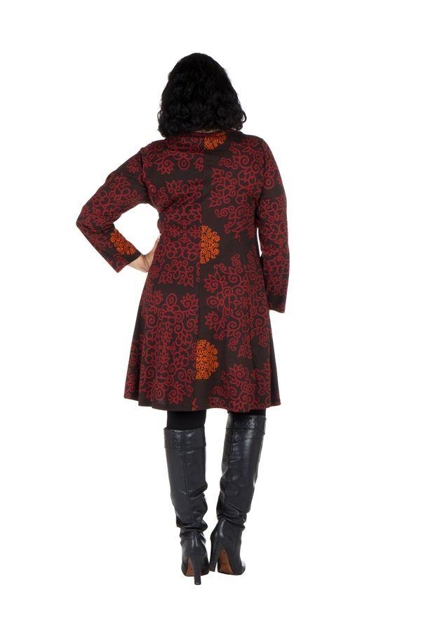 Tunique Ethnique aux couleurs d'automne en Grande taille Lazy 301100