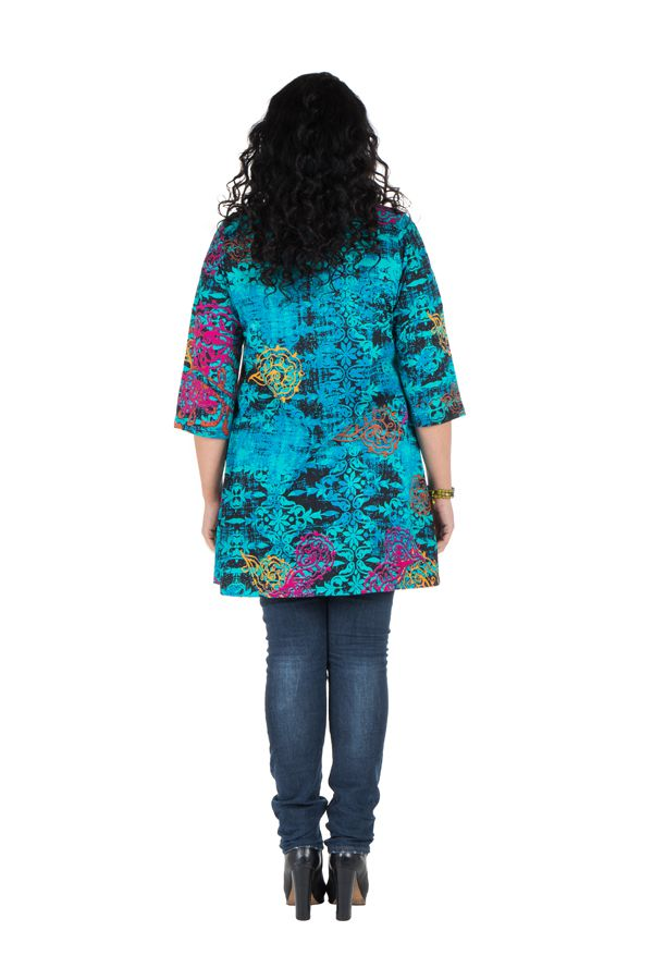 Tunique ethnique avec motifs Chanka en coton 302032