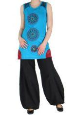 Tunique ethnique bleue Alici 268393