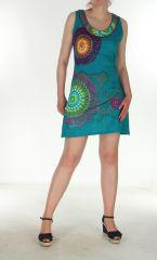 Tunique ethnique colorée bleue Maelys 299766
