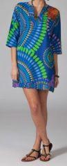 Tunique ethnique et colorée manches 3/4 col V Ammia 9 270591