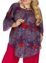Tunique ethnique grande taille pour femme style bohème Sonia