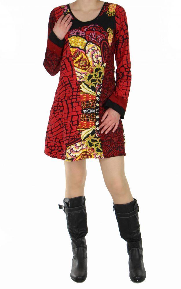Tunique ethnique mammo rouge 248755