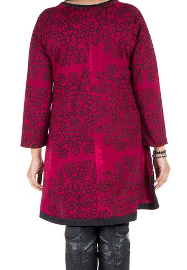 Tunique ethnique rose à manches longues Dipendra 301505
