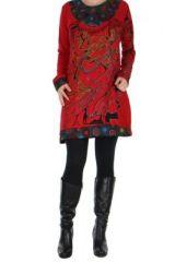 Tunique ethnique rouge Bouddha 266425