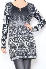 Tunique excentrique noire et blanche originale Naomie 304467