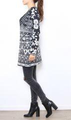 Tunique excentrique noire et blanche originale Naomie 304470