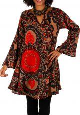 Tunique femme à col tunisien originale look bohème Emily 306022