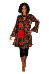 Tunique femme à col tunisien originale look bohème Emily 306023