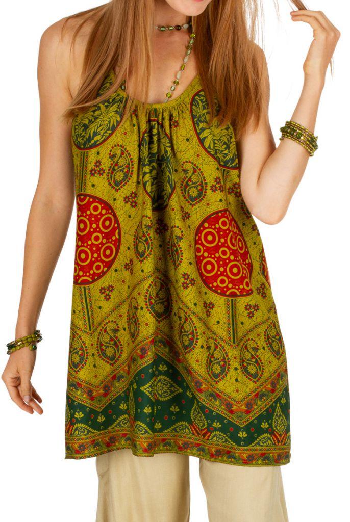 Tunique femme à dos nu avec un imprimé ethnique Lilli 306532