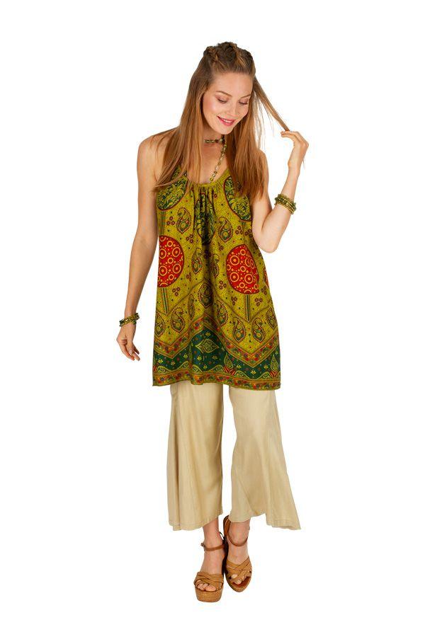 Tunique femme à dos nu avec un imprimé ethnique Lilli 306533