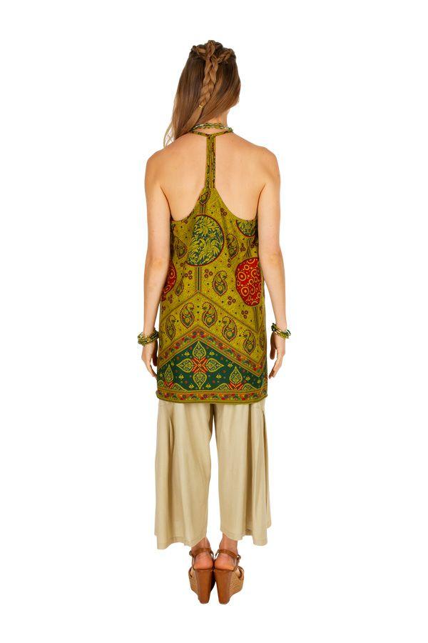 Tunique femme à dos nu avec un imprimé ethnique Lilli 306534