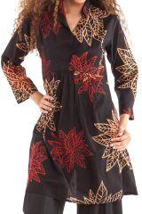Tunique Femme à manches 3/4 Ethnique et Originale Bombay Noire 281884